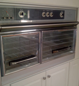 "This is the oven at my house. It's an old Frigidaire that we call ""The DeLorean"" because the doors open upward. It cooks very true to temperature, likely because it was built when quality mattered."